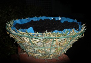 Lining hanging baskets example